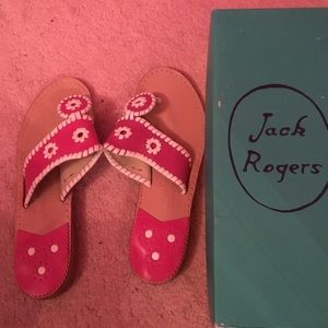 Jack Rogers Pink Sandals 6.5